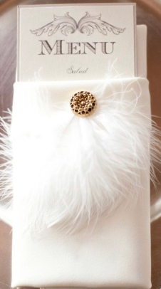 White feather accents