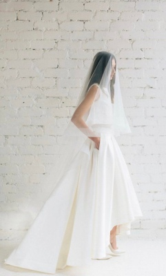 Bridal Seperates: lace cropped tank and high-low skirt